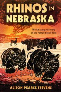 Rhinos in Nebraska cover with rhinos running from volcanic ash cloud